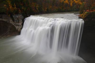 Parks Photograph - Letchworth Falls State Park In New York by Jetson Nguyen
