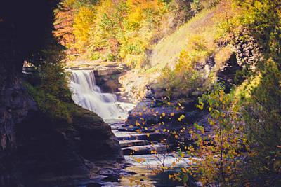 Photograph - Letchworth Lower Falls by Sara Frank
