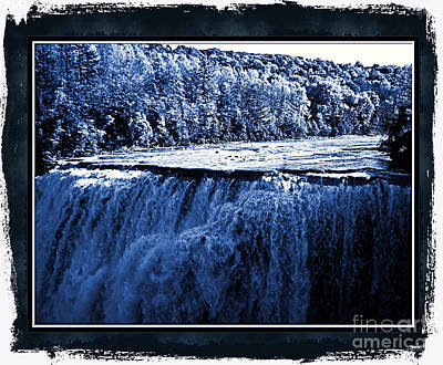 Photograph - Letchworth Middle Falls Cyanoscope by Rose Santuci-Sofranko