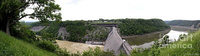 Photograph - Letchworth State Park Mount Morris Dam Panorama by Rose Santuci-Sofranko