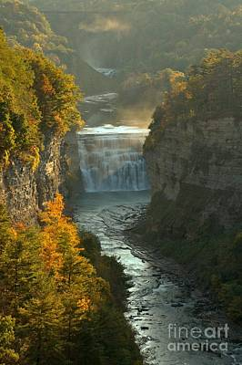 Photograph - Letchworth Upper And Middle Falls by Adam Jewell