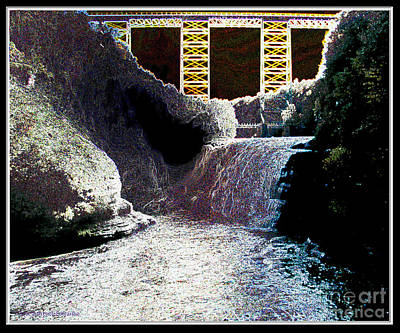 Photograph - Letchworth Upper Falls Glowing Edges Effect by Rose Santuci-Sofranko