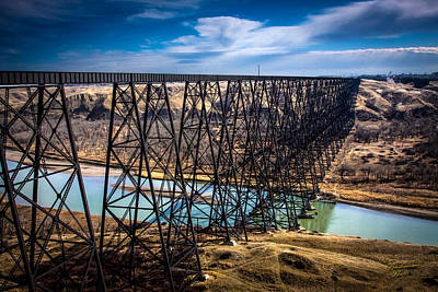 Photograph - Lethbridge Train Bridge by Tom Buchanan