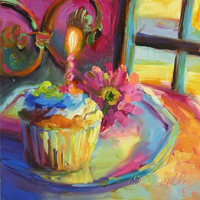 Gerber Daisy Painting - Let's Celebrate by Chris Brandley