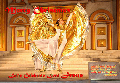Let's Celebrate Lord Jesus And Dance Art Print