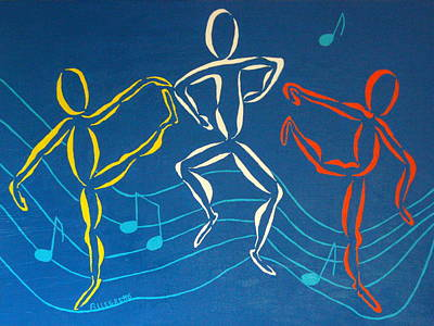 Staff Painting - Let's Dance by Pamela Allegretto