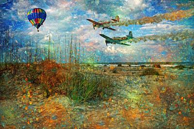 Nautical Digital Art - Let's Fly by Betsy Knapp