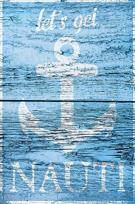 Shell Sign Painting - Let's Get Nautical by Cora Niele