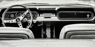 Cockpit Photograph - Let's Go For A Ride Bw by Martin Bergsma