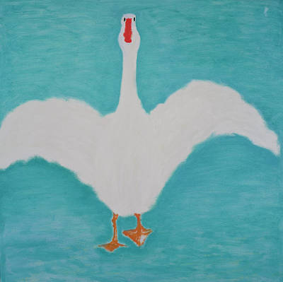 Geese Painting - Lets Go For A Walk, 2000 by Jacob Sutton