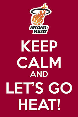 Painting - Let's Go Heat Poster by Florian Rodarte