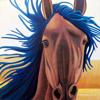 Wild Horse Painting - Let's Go - Let's Go by Brian  Commerford