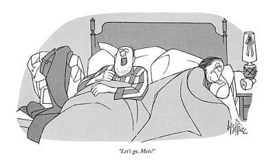 Sleep Drawing - Let's Go, Mets! by George Price