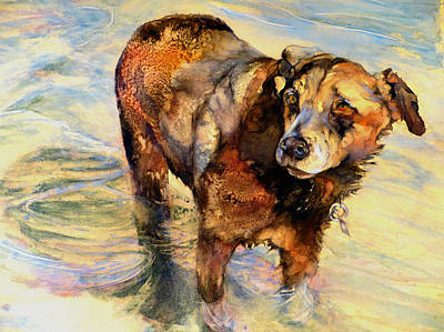 Painting - Let's Go Wading by Beverly Berwick