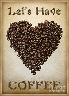Lets Have Coffee Art Print