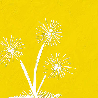 Dandelion Digital Art - Let's Make A Wish by Bonnie Bruno