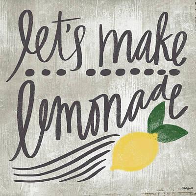 Lemon Painting - Let's Make Lemonade by Katie Doucette