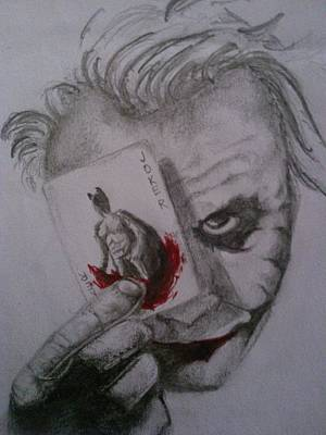 The Dark Knight Drawing - Let's Play A Game by Ayushi Puri
