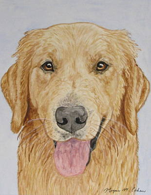 Dog Painting - Let's Play by Megan Cohen