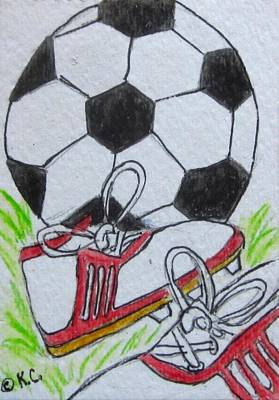 Painting - Let's Play Soccer by Kathy Marrs Chandler