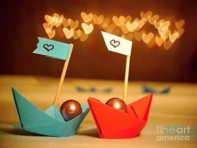 Lets Sail Through Life Together Art Print