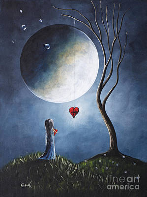 Big Moon Painting - Let's See If They Can Help Us By Shawna Erback by Shawna Erback
