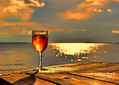 Photograph - Let's Share A Glass Of Sunset by Olga Hamilton