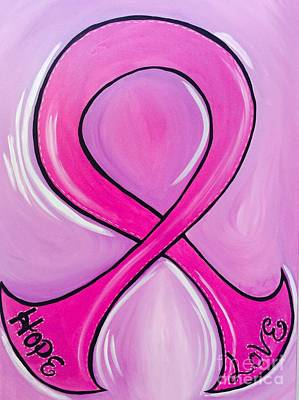 Painting - Lets Support The Fight Against Cancer by Juan Molina