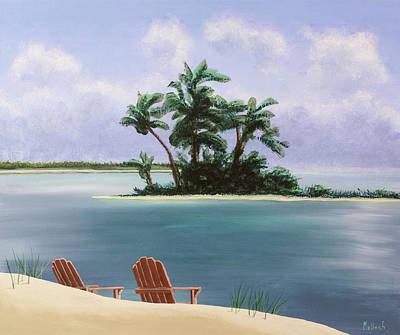 Painting - Let's Swim Out To The Island by Jack Malloch