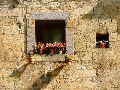 Italian Pottery Photograph - Lets Watch The Flowers Grow.. by A Rey