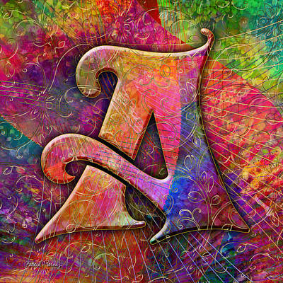 Digital Art - Letter A by Barbara Berney