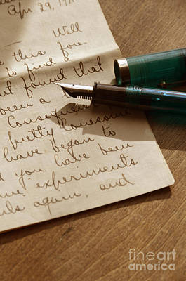 Photograph - Letter And Fountain Pen by Jill Battaglia