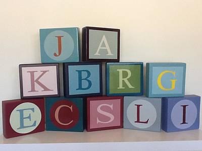 Letter Blocks Original by Brian  Hanna