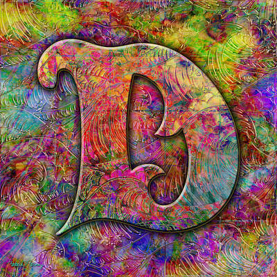 Digital Art - Letter D by Barbara Berney