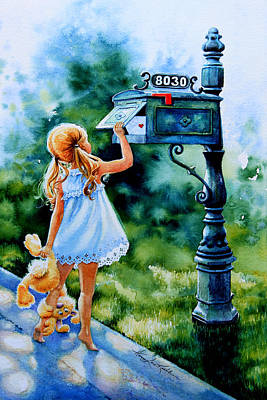 Mailbox Painting - Letter For Nanna by Hanne Lore Koehler