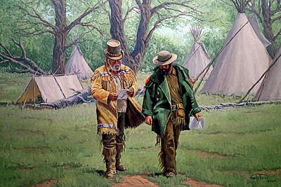 Mountain Man Painting - Letter From Home by Randy Follis
