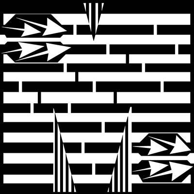 Alphabet Mazes Digital Art - Letter M Maze by Yonatan Frimer Maze Artist