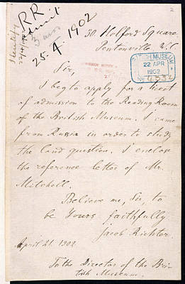 Marx Photograph - Letter Of Lenin by British Library