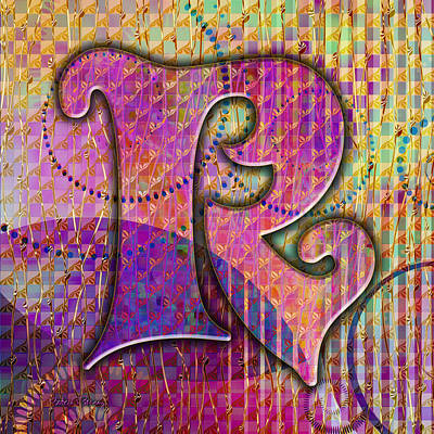 Digital Art - Letter R by Barbara Berney