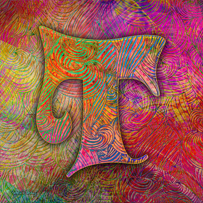 Digital Art - Letter T by Barbara Berney