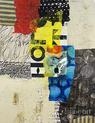 Stripes Mixed Media - Letter To Myself by Elena Nosyreva
