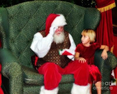 Letter To Santa Art Print by Eddie Yerkish