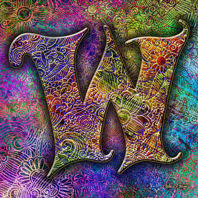 Digital Art - Letter W by Barbara Berney