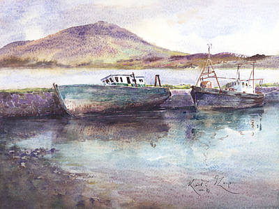 Letterfrack Harbour Connemara County Galway Art Print by Keith Thompson
