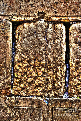 Art Print featuring the photograph Letters In The Wailing Wall by Doc Braham