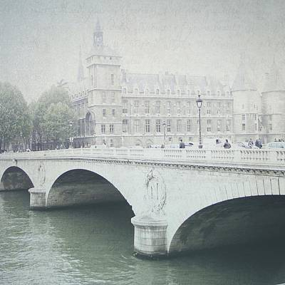 Photograph - Letters From Pont Saint-michel - Paris by Lisa Parrish