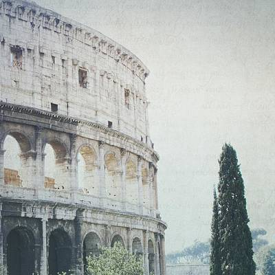 Photograph - Letters From The Colosseum II - Rome by Lisa Parrish