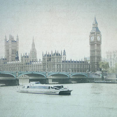 Photograph - Letters From The Thames - London by Lisa Parrish