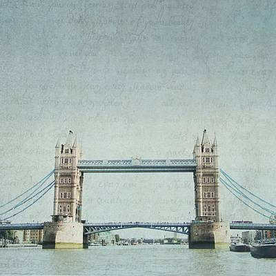 Photograph - Letters From Tower Bridge - London by Lisa Parrish