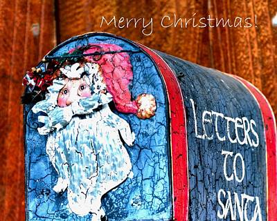 Jerry Sodorff Royalty-Free and Rights-Managed Images - Letters To Santa  Text 20537 copy by Jerry Sodorff